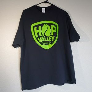 Hop Valley Brewing Co. Beer Graphic T-shirt Sz XL